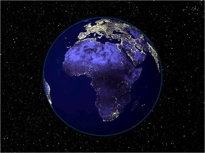 Africa from outer space